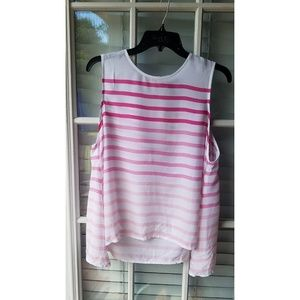 GAP Pink Ombre Striped Tank NWT